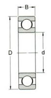 Maße Kugellager: d x D x B